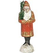Antique German Early Belsnickle Santa Candy Container ca1890