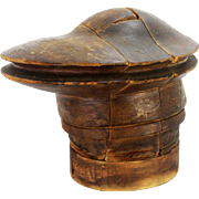 Antique Wood Hat Form, Block, Millinery Form, Mold ca1900