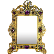 Antique Victorian Fancy Jeweled Frame