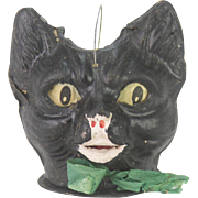 Antique German Black Cat Halloween Lantern  ca1915