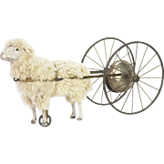Antique German Sheep Bell Toy Pull Toy ca1900