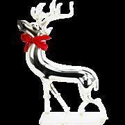 Vintage Large German Mercury Glass Christmas Reindeer ca1920