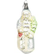 Antique German Blown Glass Santa Christmas Ornament ca1910