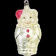 Antique German Blown Glass Clown Bear Christmas Ornament ca1910