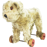 Antique Steiff Molly Dog Pull Toy