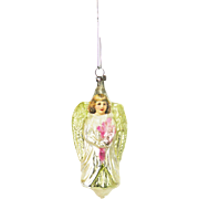 Antique German Blown Glass Angel Christmas Ornament ca1910