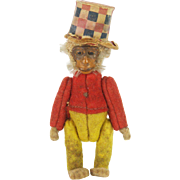 Antique Miniature Jointed Schuco Monkey