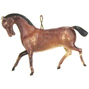 Antique German Dresden Horse Christmas Ornament ca1910