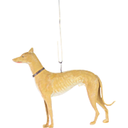 Antique German Dresden Greyhound Dog Christmas Ornament ca1910