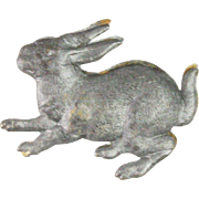Antique German Dresden Bunny Rabbit Christmas Ornament ca1910