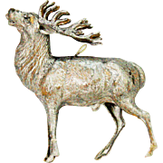 Antique German Dresden Buck Elk Stag Deer Christmas Ornament ca1910