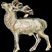 Antique German Dresden Buck Elk Stag Deer Christmas Ornament ca1910