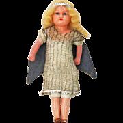 Antique Wax Christmas Ferry Angel Doll ca1900