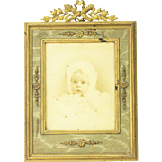 Antique French Brass Picture Frame ca1890