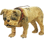Antique French Bulldog Mechanical Pull Toy