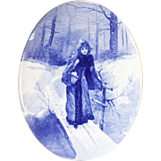 Antique Royal Doulton Babes in the Woods Plaque ca1910