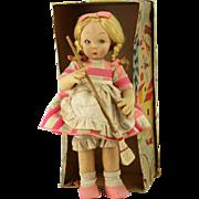 Vintage Lenci Cloth Doll In Original Box ca1930