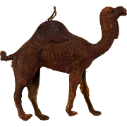 Antique German Dresden Camel Christmas Ornament ca1910