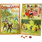Antique Milton Bradley Over The Garden Wall Board Game ca1911