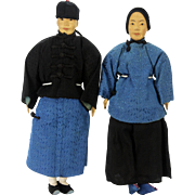 Vintage Door of Hope Mission Dolls, Husband and Wife, Couple, Male and Female