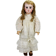 Antique French Early Closed Mouth Tete Jumeau Doll 25""