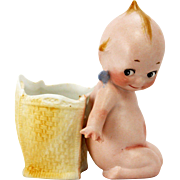 Antique German Bisque Rose O'neill Action Kewpie with Basket