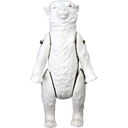 Antique Large German Bisque Jointed Polar Bear