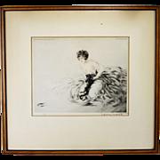 Vintage Louis Icart Framed Limited Print ca1920