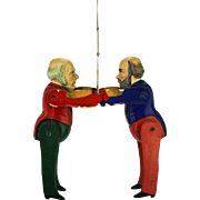 Antique English William Gladstone and Lord Salisbury Political Toy ca1884