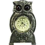 Antique German Owl Clock with Original Box ca1910