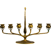 Antique Tiffany Studios Bronze Table Candelabrum ca1910
