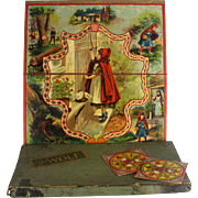 Antique The Game of Wolf Red Riding Hood Board Game