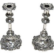 Baroque Style Silver Plated Candlesticks