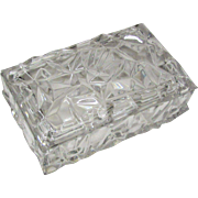 """Tiffany & Co. Crystal Lidded """"Rock Cut"""" Box"""
