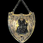 "800 Silver Standard Polish Icon With ""Our Lady of Czestochowa"""
