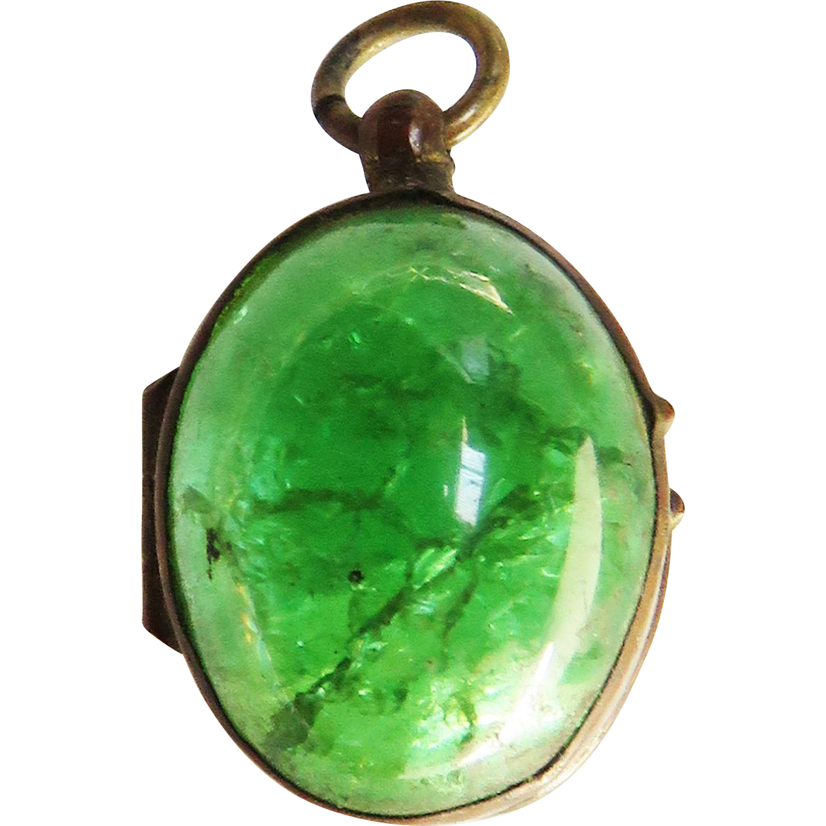 Pools of light green crackle glass antique victorian locket pools of light green crackle glass antique victorian locket pendant watch fob mozeypictures Choice Image