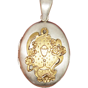 French Holy Grail Reliquary Antique Victorian Locket Pendant