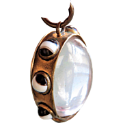 Rare Pools of Light with Agate Antique Victorian Locket Pendant