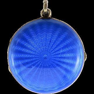 David Anderson Norwegian Guilloche Enamel Antique Art Nouveau Locket Pendant