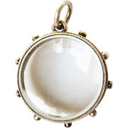 French Nautical Open Faced Glass Antique Victorian Locket Pendant