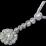 Antique Edwardian 2.05 cwt rose-cut diamonds necklace