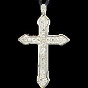 Cross pendant 3.50 carat t.w.  platinum  circa 1920 s