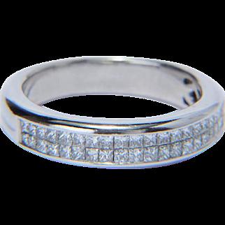 Diamond 0.70 cwt engagement ring 18 k white gold circa 1980