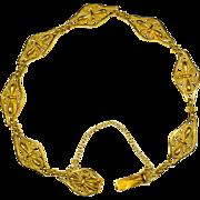 Antique Art Nouveau 18 karat yellow gold bracelet circa 1900