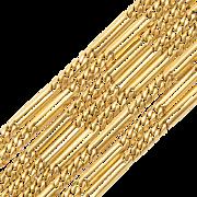 Antique decorative chain/necklace Victorian circa 1890 s 18 karat yellow gold 62 inches