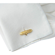 Elegant  Retro double -sided Cufflinks 18 k yellow gold circa 1950