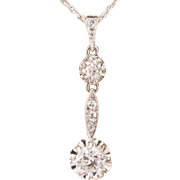 0.65 cwt F-G VS 1 diamond pendant Art Deco circa 1920