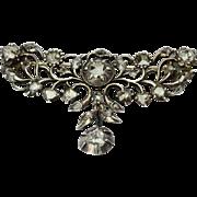 Antique Georgian diamond brooch circa 1780 s