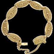Antique French Art Nouveau / Victorian 18 karat yellow gold bracelet circa 1900