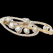 Diamond brooch antique Art Nouveau circa 1900 s